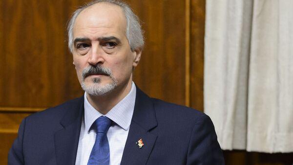 Syrský zástupce při OSN Bašár Džaafari - Sputnik Česká republika