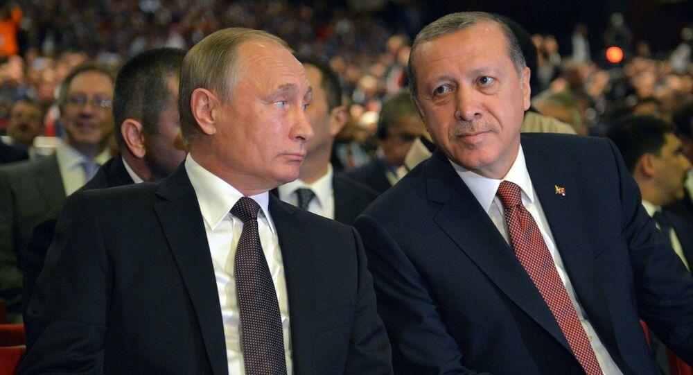 Vladimir Putin a Recep Tayyip Erdogan