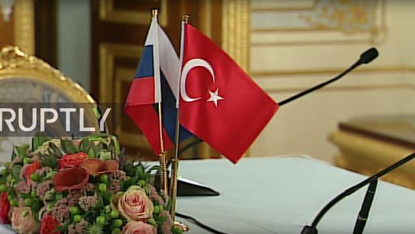 Erdogan a Putin na konferenci - Sputnik Česká republika