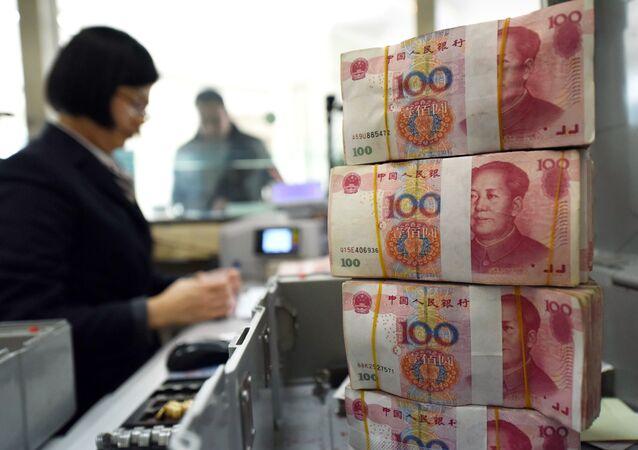 Čínské bankovky v hodnotě 100 jüanů