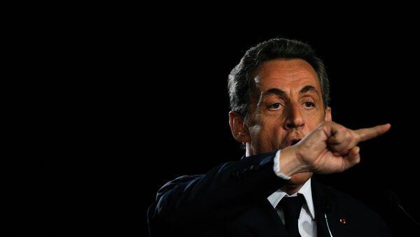 Bývalý francouzský prezident, předseda největší opoziční strany Republikáni Nicolas Sarkozy - Sputnik Česká republika