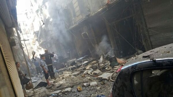 Následky ostřelování v Aleppu - Sputnik Česká republika