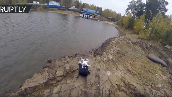 Rybaření s pomocí dronu na Krasnojarské nádrži - Sputnik Česká republika