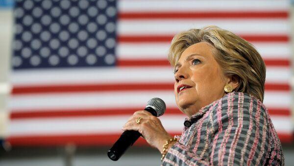 Hillary Clinton, durante su discurso en el estado de Florida. - Sputnik Česká republika