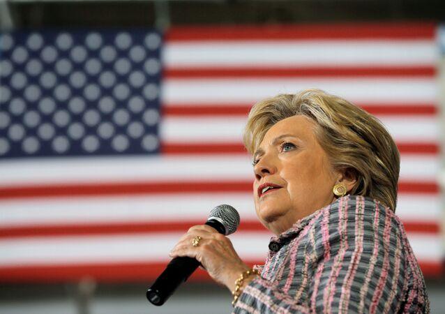 Hillary Clinton, durante su discurso en el estado de Florida.