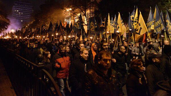 Pochod na počest výročí zřízení Ukrajinské povstalecké armády - Sputnik Česká republika