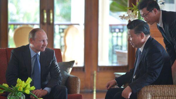 Vladimir Putin a Si Ťin-pching - Sputnik Česká republika