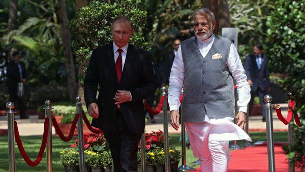 Vladimir Putin a Nárendra Módí - Sputnik Česká republika