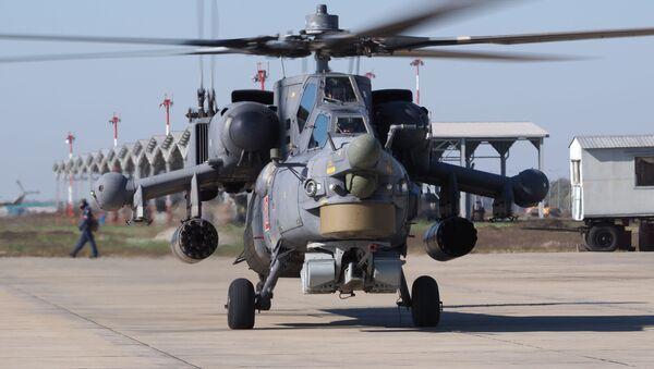 Cvičení vrtulníkového pluku v Krasnodarském kraji - Sputnik Česká republika