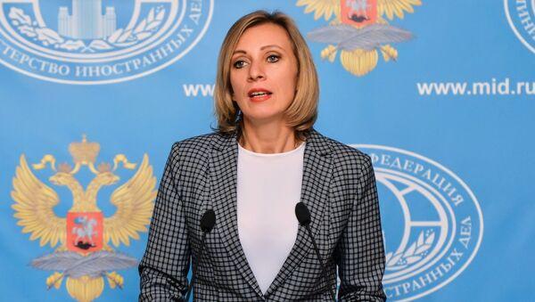 Tisková mluvčí Ministerstva zahraničních věci Ruska Maria Zacharovová - Sputnik Česká republika