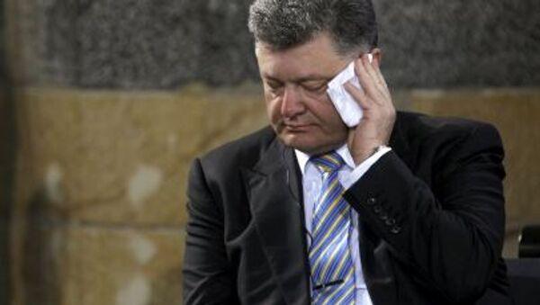 Ukrajinský pretident Petro Porošenko - Sputnik Česká republika