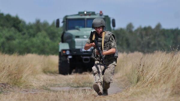 Cvičení ukrajinských pohraničních vojsk - Sputnik Česká republika