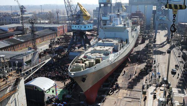 Fregata Admirál Grigorovič po výstavbě - Sputnik Česká republika