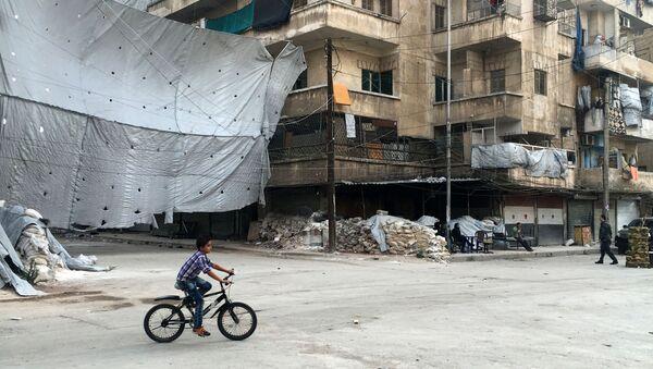 Čtvrť Bustan al-Kasr v Aleppu - Sputnik Česká republika