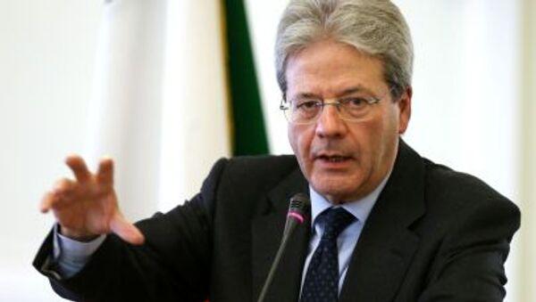 Italský ministr zahraničních věcí Paolo Gentiloni - Sputnik Česká republika