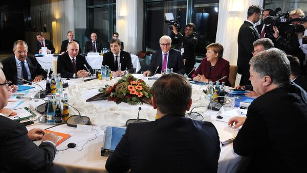 Schůzka lídrů zemí Normandské čtyřky v Berlíně - Sputnik Česká republika