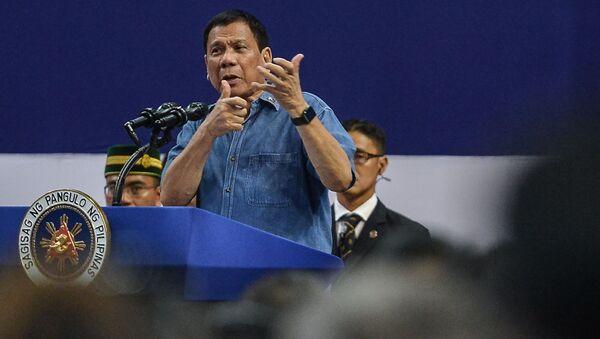 Filipínský prezident Rodrigo Duterte - Sputnik Česká republika