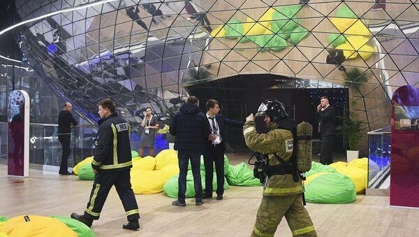 Evakuace fóra Otevřené inovace ve Skolkovu - Sputnik Česká republika