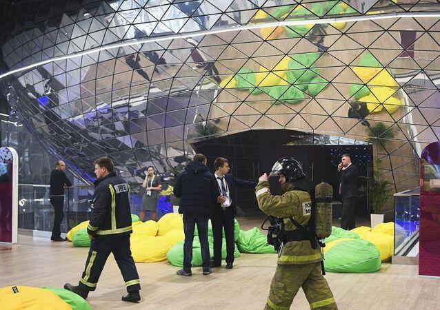 Evakuace fóra Otevřené inovace ve Skolkovu