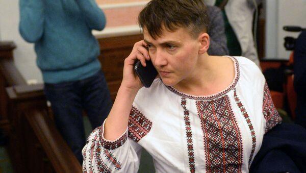 Naděžda Savčenková během jednání u Nejvyššího soudu - Sputnik Česká republika