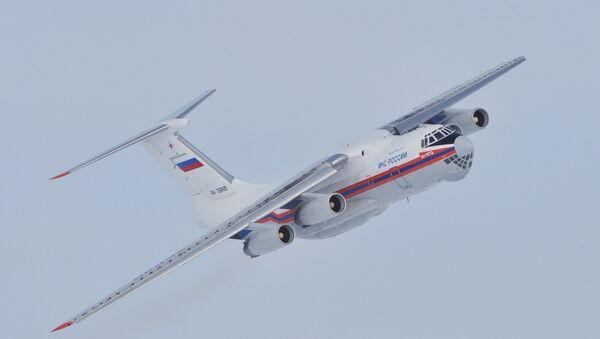 Il-76 Ministerstva pro mimořádné situace s motory D-30. - Sputnik Česká republika