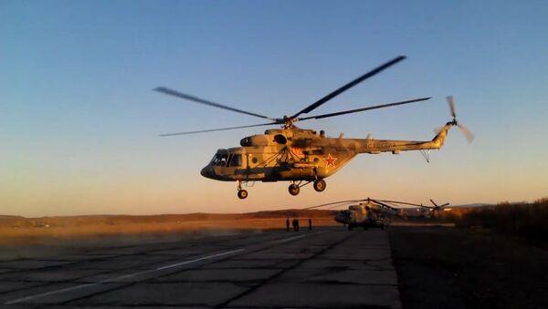 Bojové vrtulníky Ruska v akci - Sputnik Česká republika