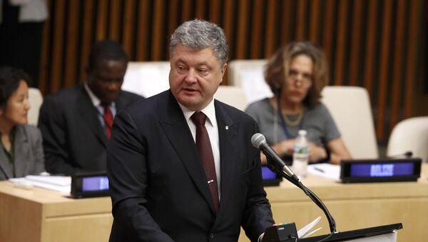 Petr Porošenko v New Yorku, 19. září 2016 - Sputnik Česká republika