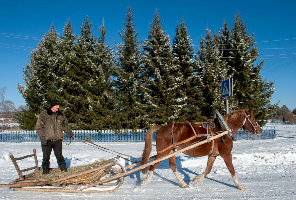 Zima na Sibiři