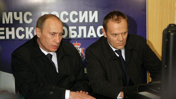 Vladimir Putin a Donald Tusk - Sputnik Česká republika