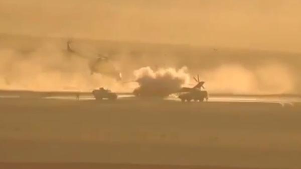 Video ostřelování ruského vrtulníku v Sýrii - Sputnik Česká republika
