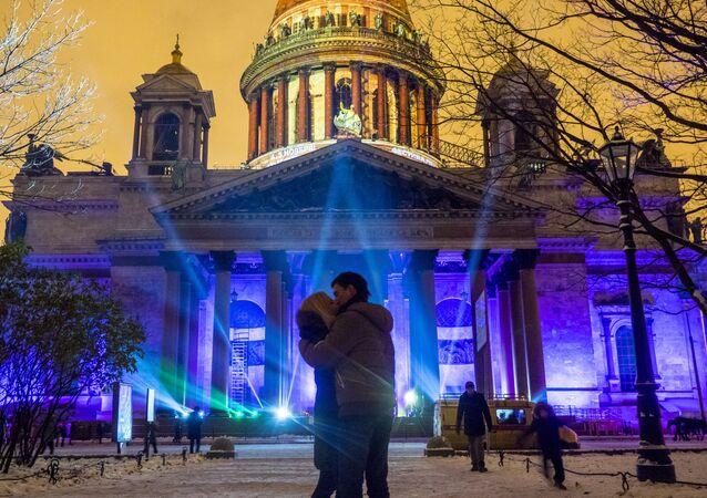 3D-mapping show v Petrohradu