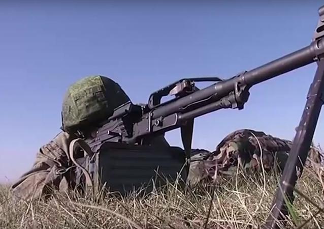 První etapa taktických rusko-srbsko-běloruských cvičení Slovanské bratrství 2016