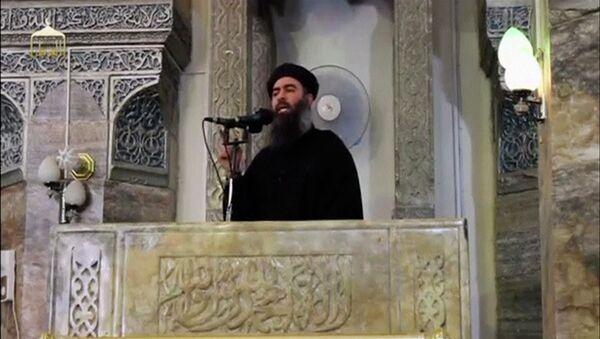 Vůdce teroristické skupiny Islámský stát Abú Bakr al-Bagdadí - Sputnik Česká republika
