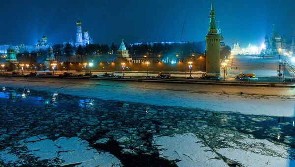 Pohled na Kreml v zimě - Sputnik Česká republika