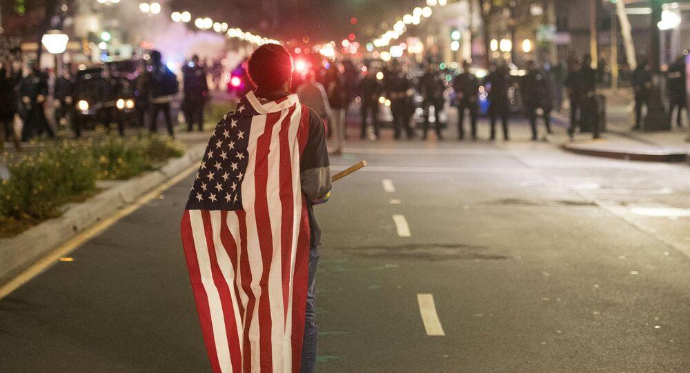 Protestní akce protí zvolení Donalda Trumpa (ilustrační foto)