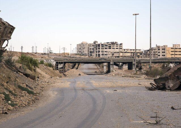 Humanitární koridor v syrském Aleppu