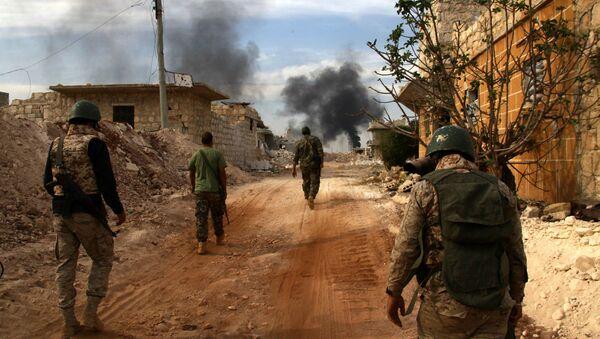 Syrští vojáci v Aleppu - Sputnik Česká republika