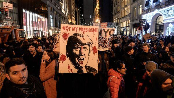 Protestní akce v New Yorku - Sputnik Česká republika