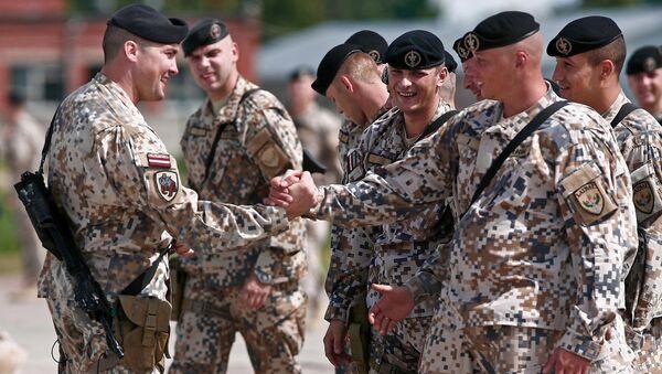 Lotyšští vojáci - Sputnik Česká republika