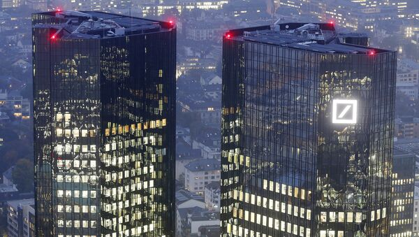 Hlavní stan Deutsche Bank ve Frankfurtu, Německo. - Sputnik Česká republika