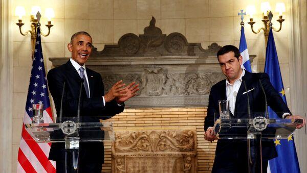 Barack Obama a Alexis Tsipras - Sputnik Česká republika