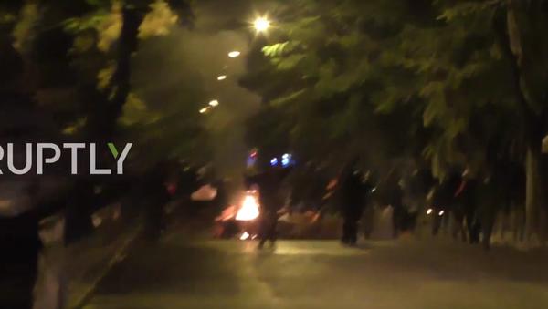 Řekové protestovali během návštěvy Obamy v Aténách - Sputnik Česká republika