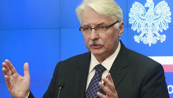 Polský ministr zahraničí Witold Waszczykowski - Sputnik Česká republika