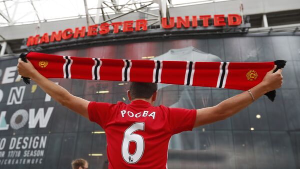 Fanoušek anglického fotbalového klubu Manchester United - Sputnik Česká republika