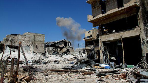 Zničené budovy v Aleppu - Sputnik Česká republika