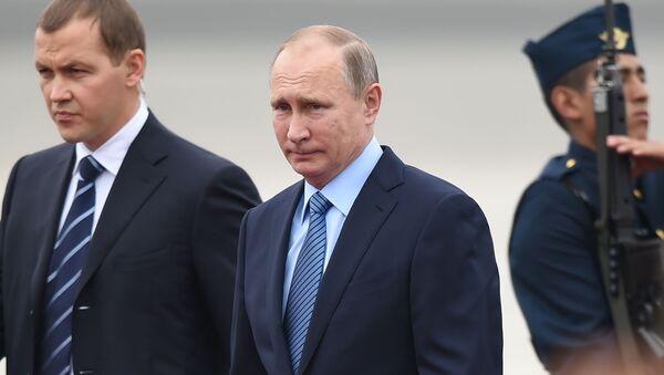 Prezident RF Vladimir Putin na summitu APEC v Peru - Sputnik Česká republika