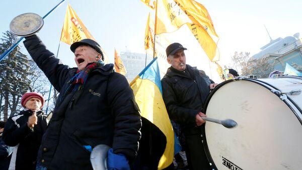 Protestní akce v Kyjevě. Archivní foto - Sputnik Česká republika
