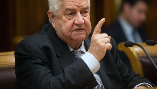 Syrský ministr zahraničí Walid Muallem - Sputnik Česká republika