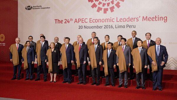 Předáci APEC se dali vyfotografovat v peruánských pláštěnkách z vikuni - Sputnik Česká republika