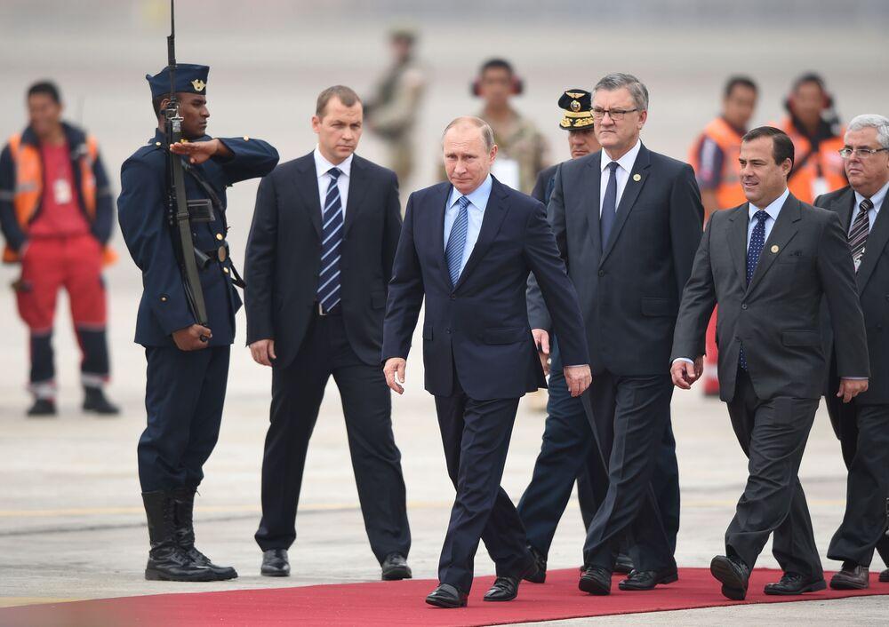 Ruský prezident Vladimir Putin na mezinárodním summitu APEC v Peru